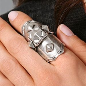 Low Luv x Erin Wasson Armor Knuckle Ring in Silver
